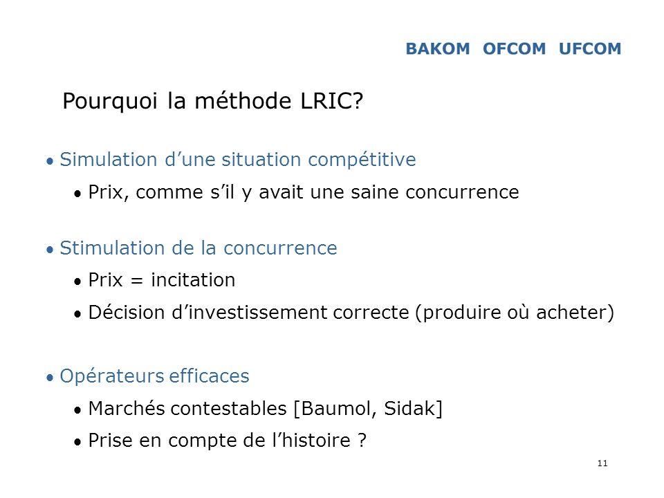 Pourquoi la méthode LRIC