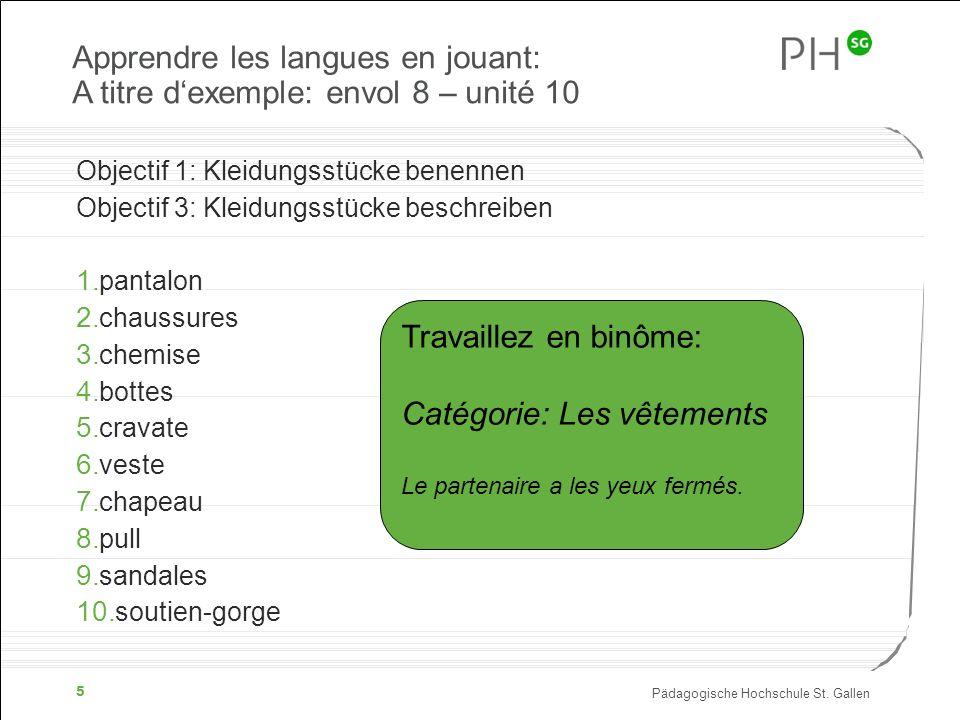 Apprendre les langues en jouant: A titre d'exemple: envol 8 – unité 10