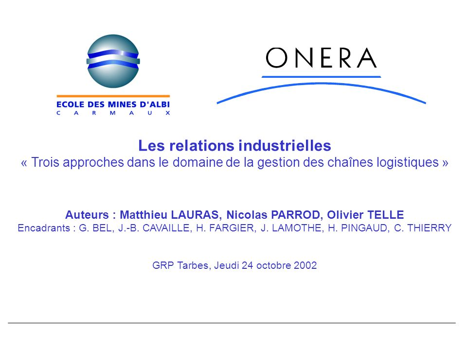 Les relations industrielles