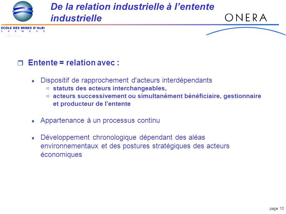 De la relation industrielle à l'entente industrielle