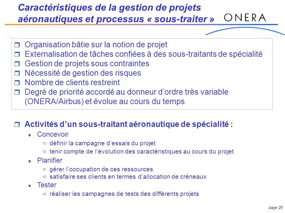 Caractéristiques de la gestion de projets aéronautiques et processus « sous-traiter »