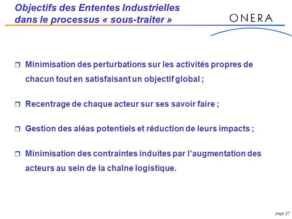 Objectifs des Ententes Industrielles dans le processus « sous-traiter »