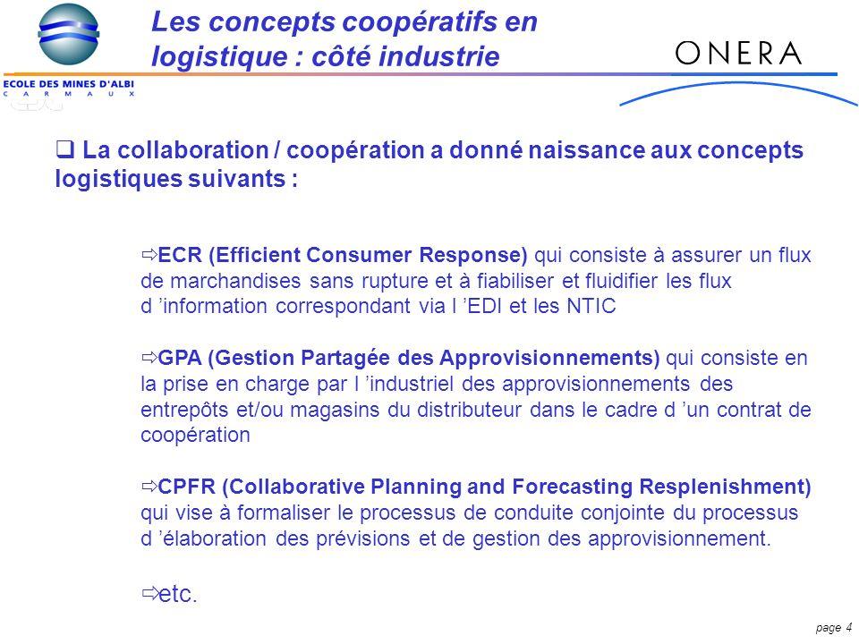Les concepts coopératifs en logistique : côté industrie