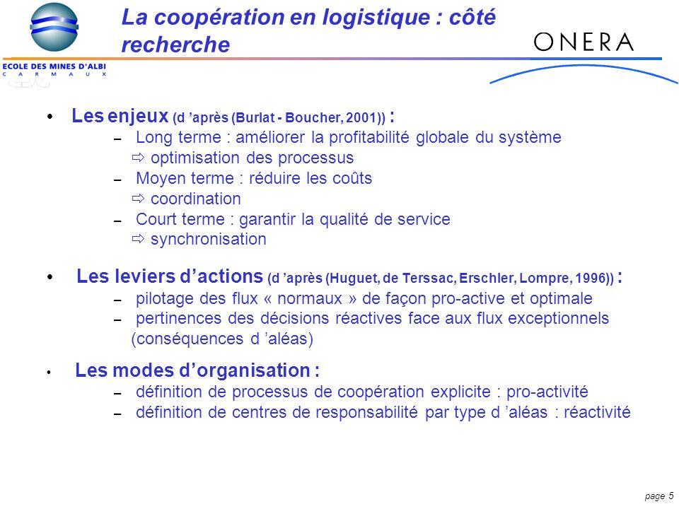 La coopération en logistique : côté recherche
