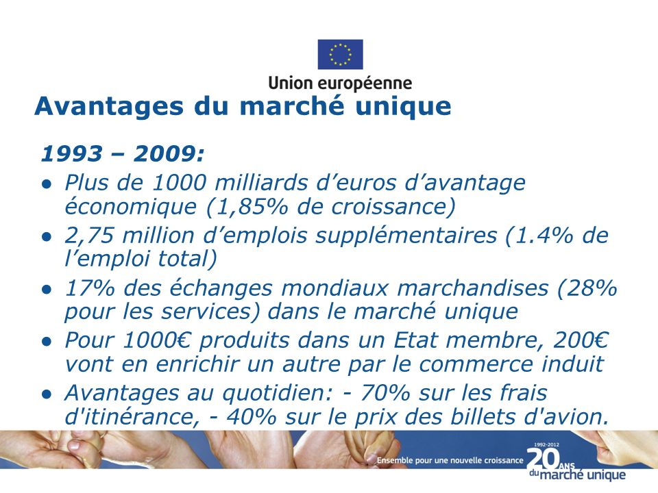 Avantages du marché unique