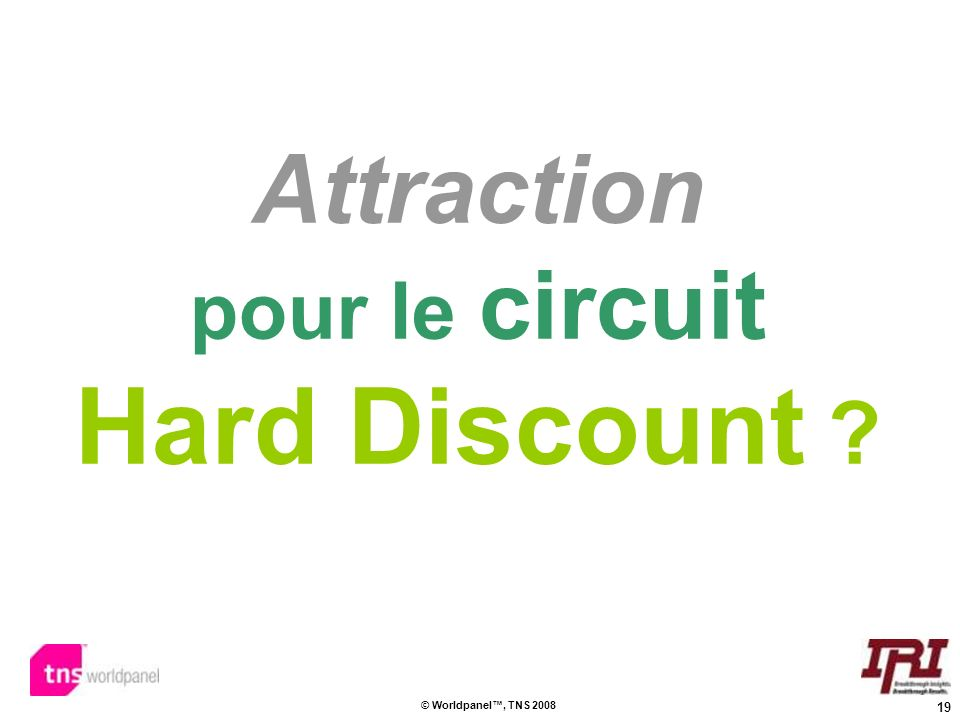 Attraction pour le circuit Hard Discount