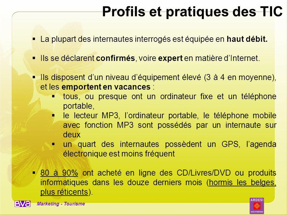 Profils et pratiques des TIC