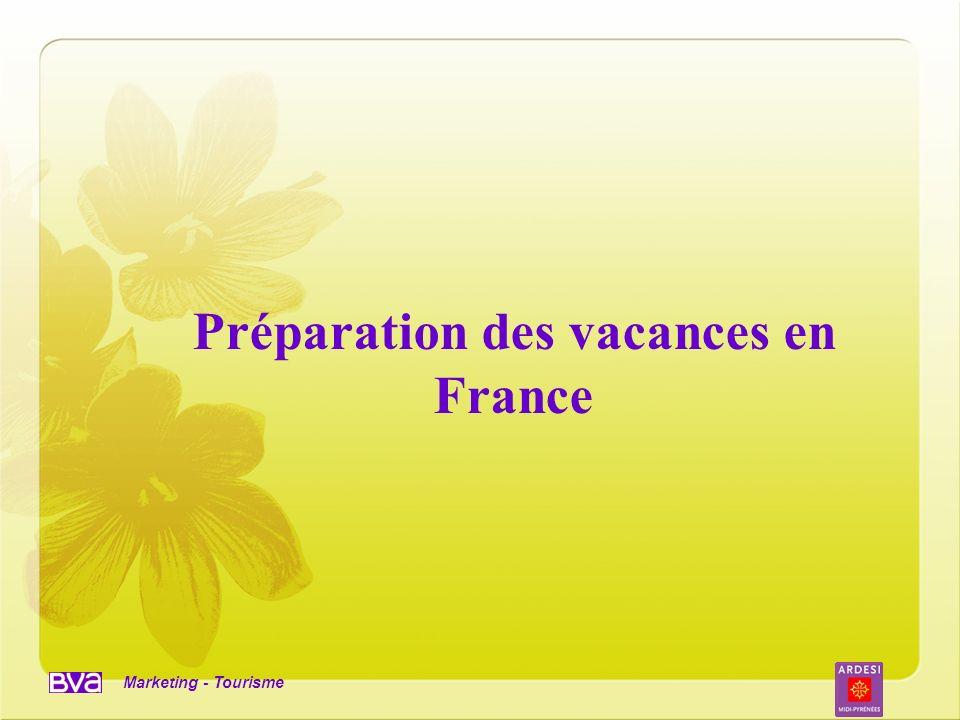 Préparation des vacances en France