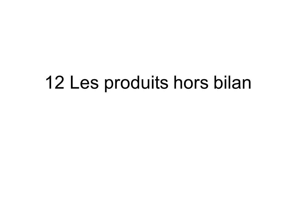 12 Les produits hors bilan