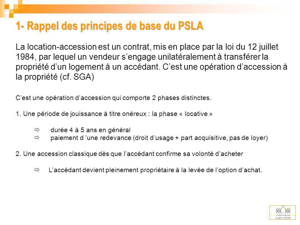 1- Rappel des principes de base du PSLA