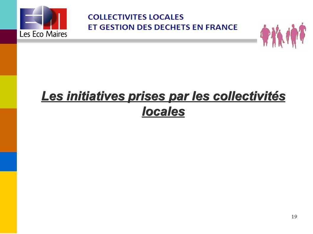 Les initiatives prises par les collectivités locales