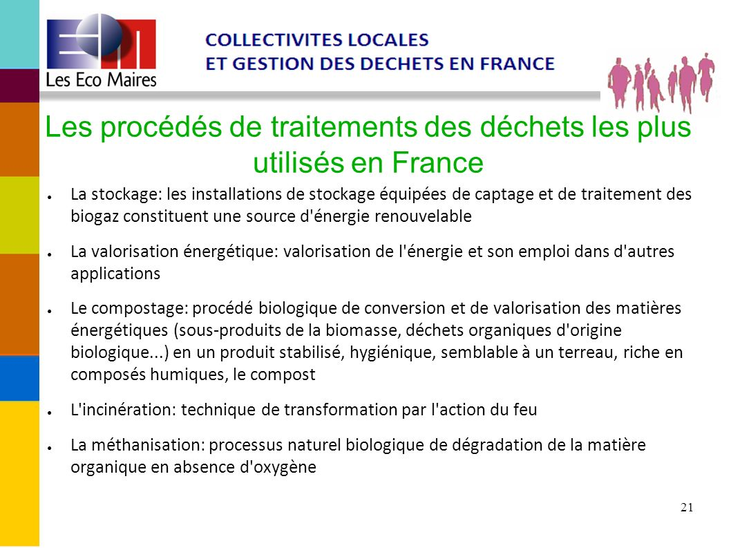Les procédés de traitements des déchets les plus utilisés en France