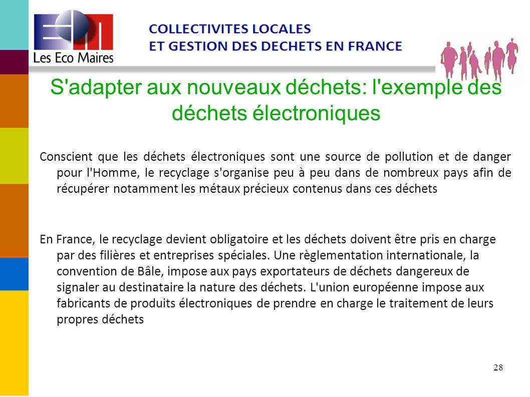 S adapter aux nouveaux déchets: l exemple des déchets électroniques