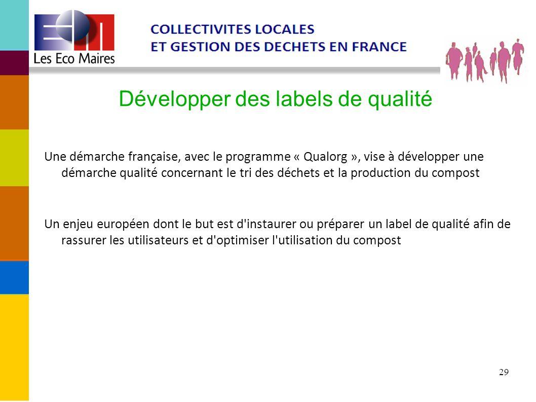 Développer des labels de qualité
