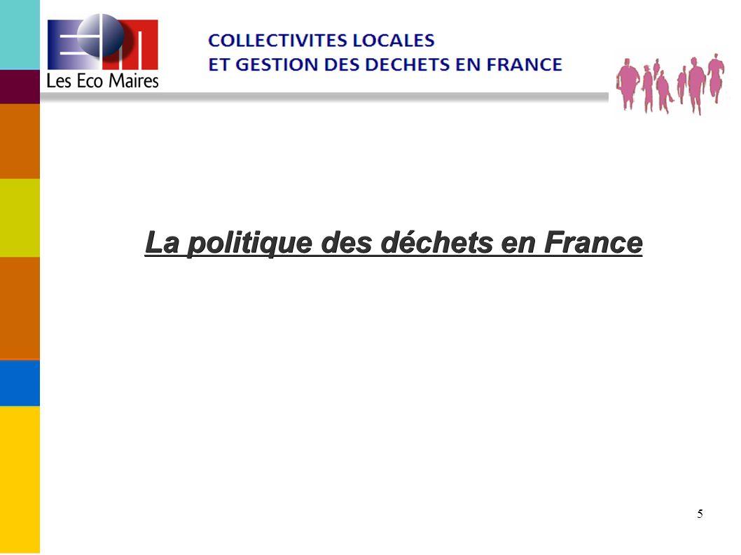 La politique des déchets en France