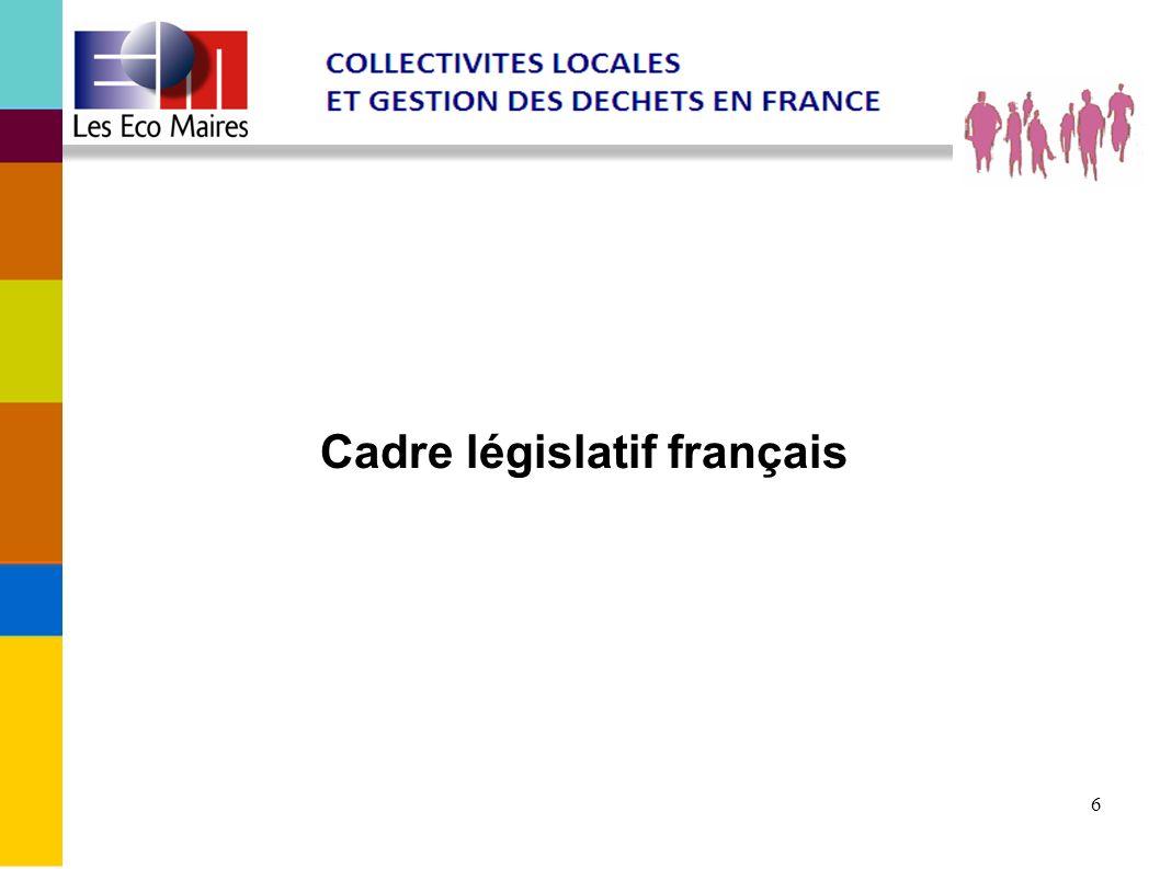 Cadre législatif français