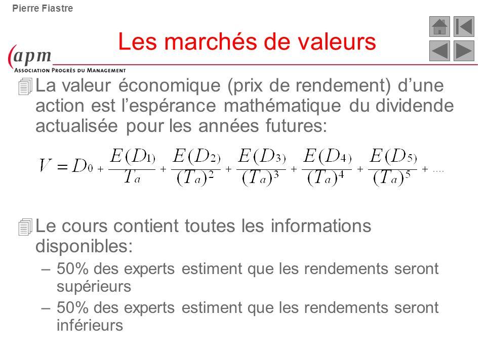 Pierre Fiastre Les marchés de valeurs.