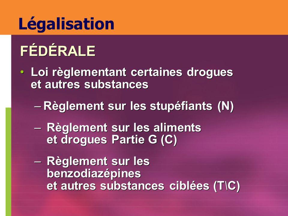 Légalisation FÉDÉRALE