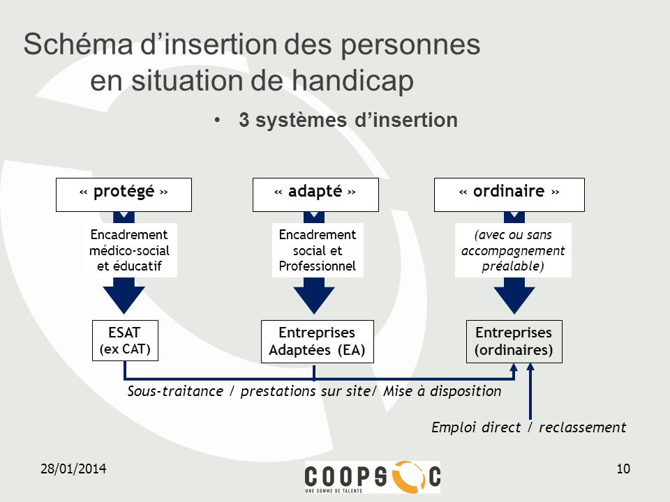 Schéma d'insertion des personnes en situation de handicap