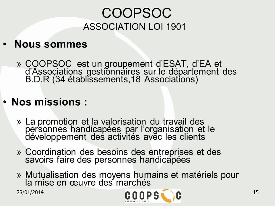 COOPSOC ASSOCIATION LOI 1901