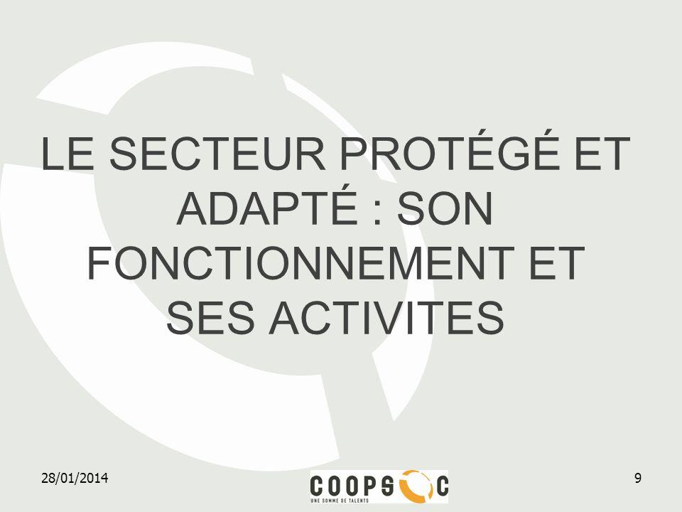 le secteur protégé ET adapté : son fonctionnement et ses activites