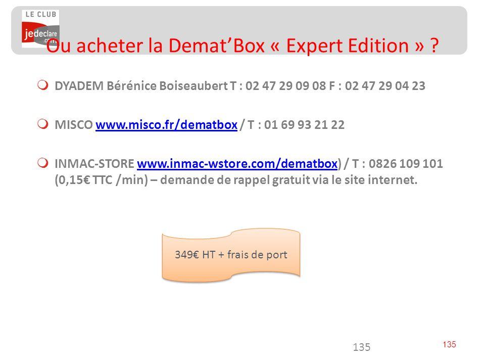 Ou acheter la Demat'Box « Expert Edition »