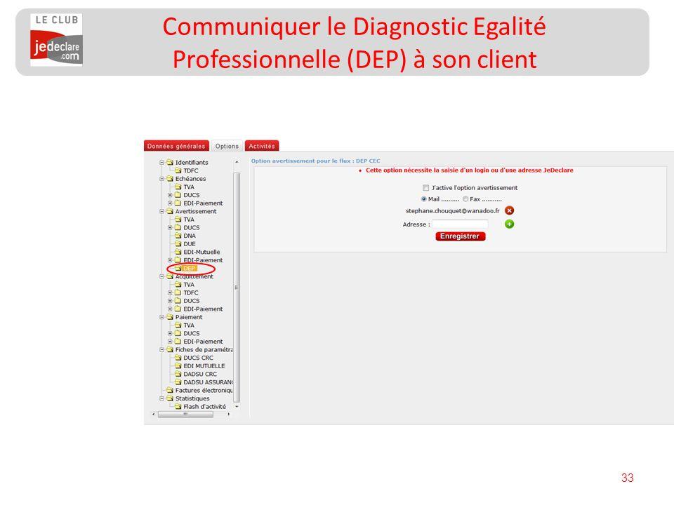 Communiquer le Diagnostic Egalité Professionnelle (DEP) à son client