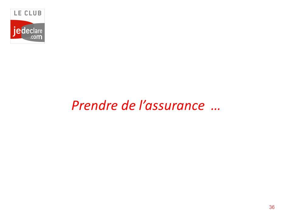 Prendre de l'assurance …