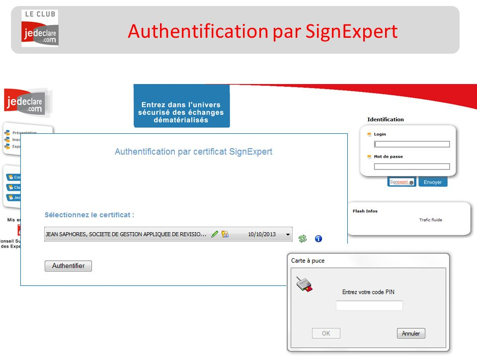 Authentification par SignExpert