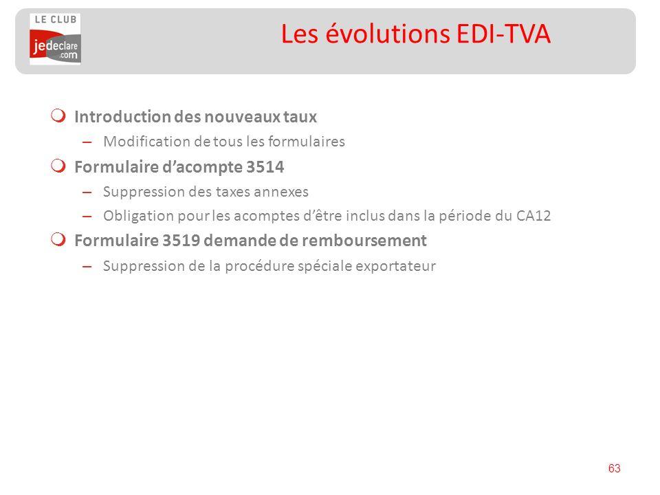 Les évolutions EDI-TVA