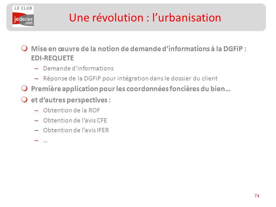 Une révolution : l'urbanisation