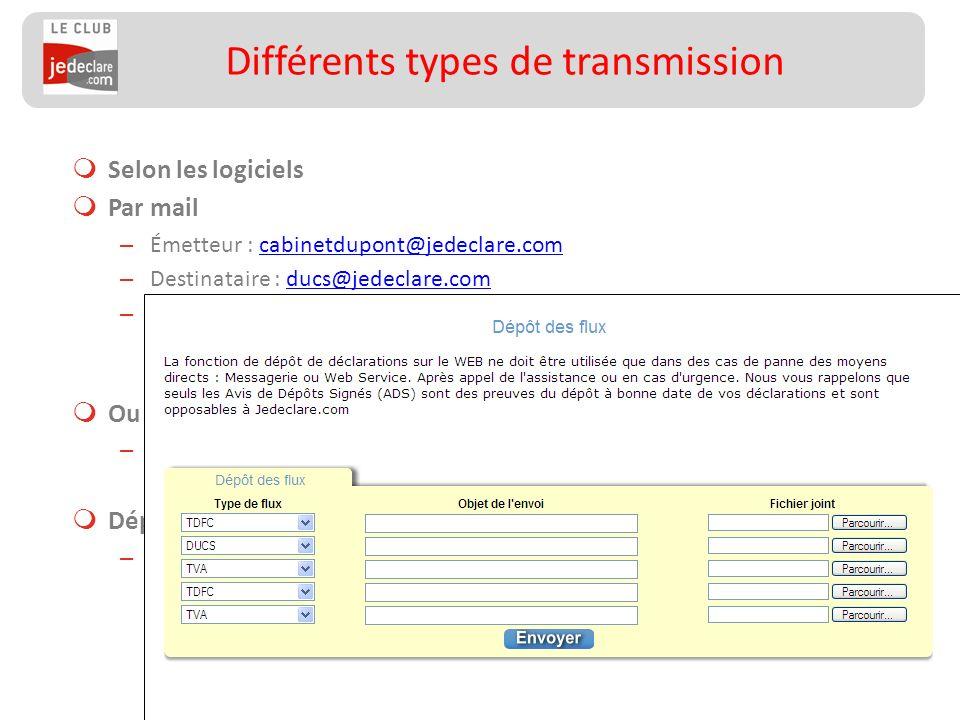 Différents types de transmission
