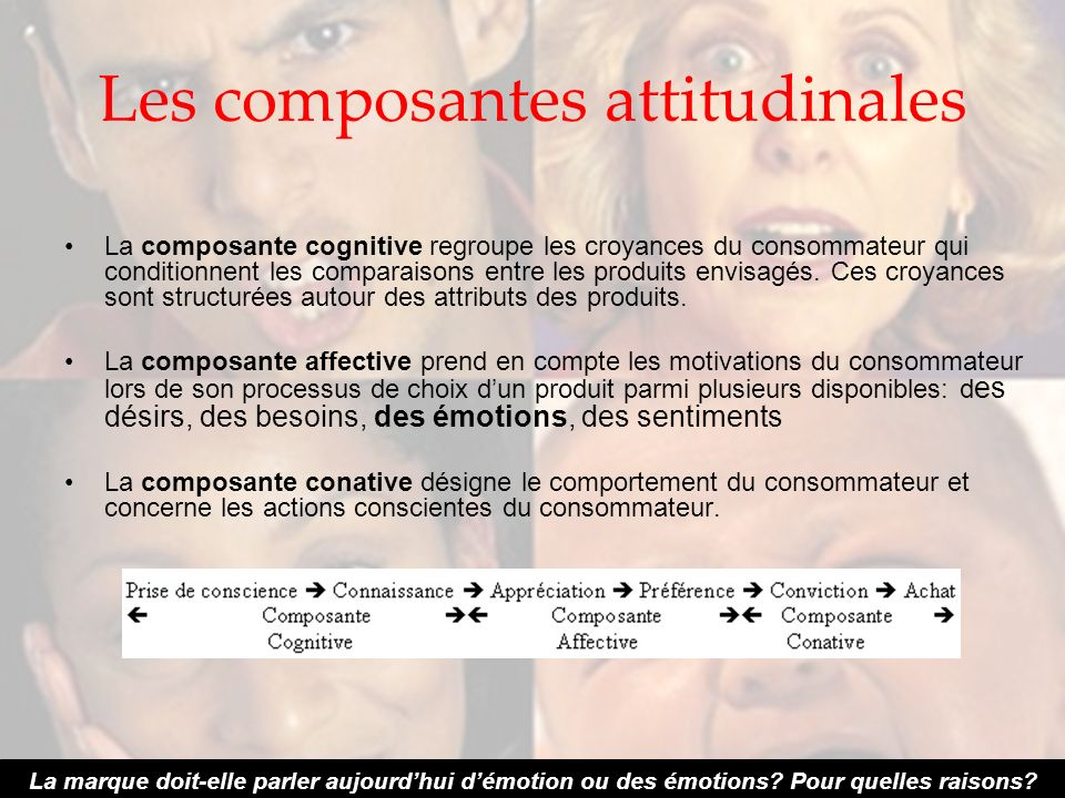 Les composantes attitudinales