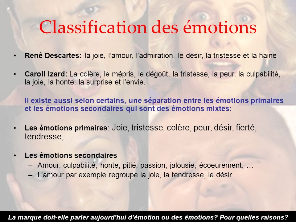 Classification des émotions