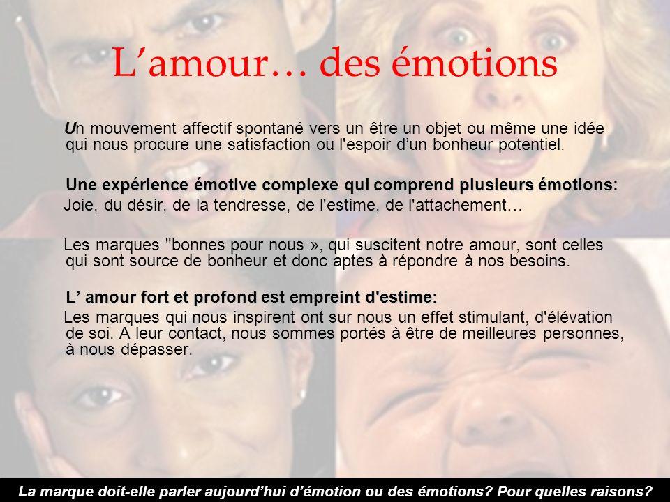 L'amour… des émotions