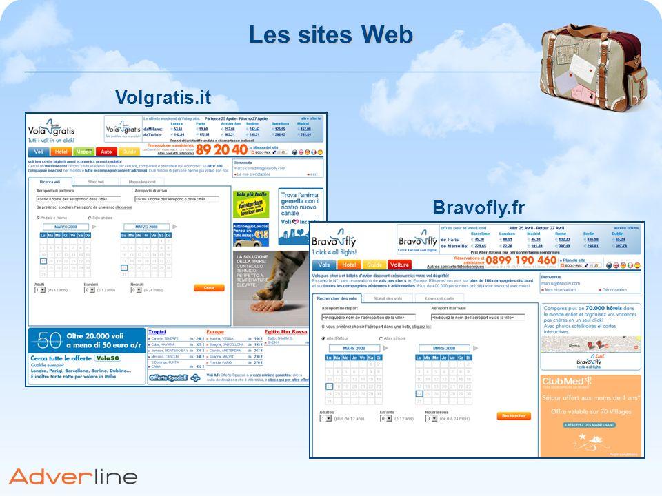 Les sites Web Volgratis.it Bravofly.fr