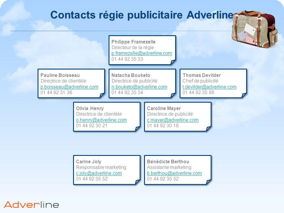 Contacts régie publicitaire Adverline