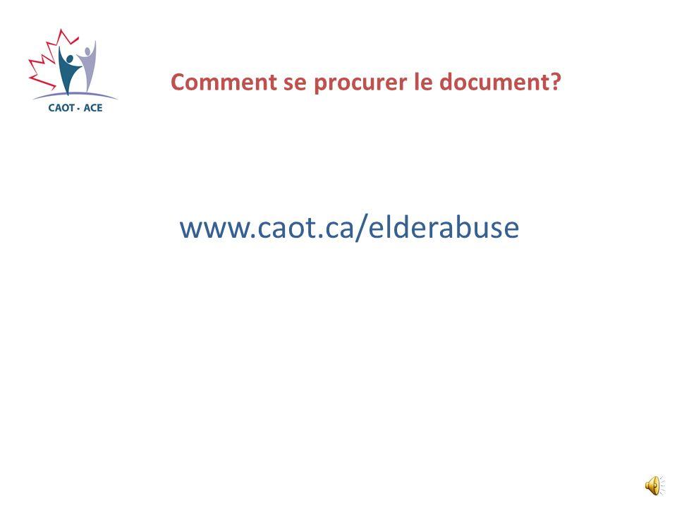 Comment se procurer le document
