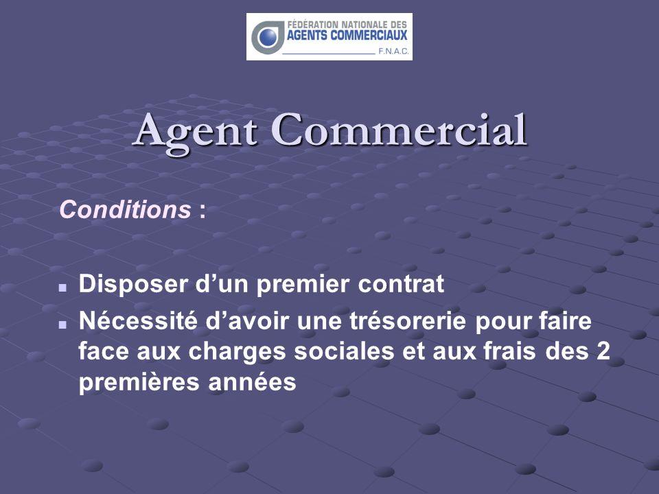 Agent Commercial Conditions : Disposer d'un premier contrat