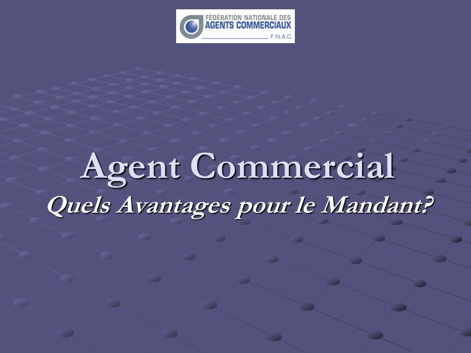 Agent Commercial Quels Avantages pour le Mandant