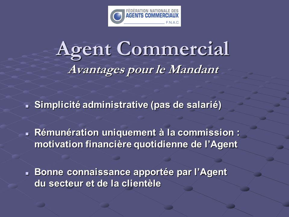 Agent Commercial Avantages pour le Mandant