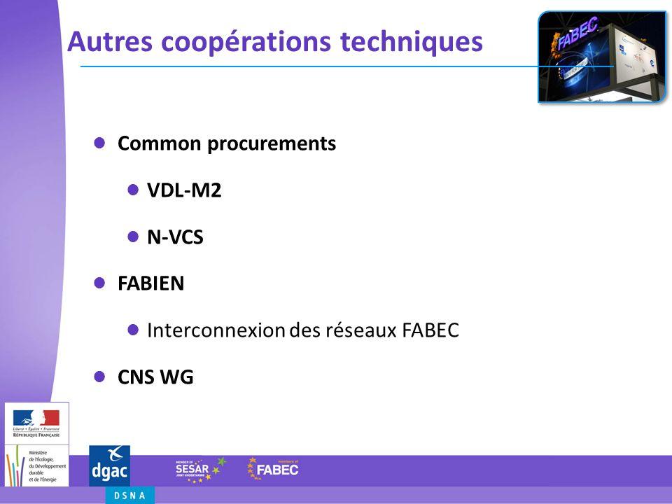 Autres coopérations techniques