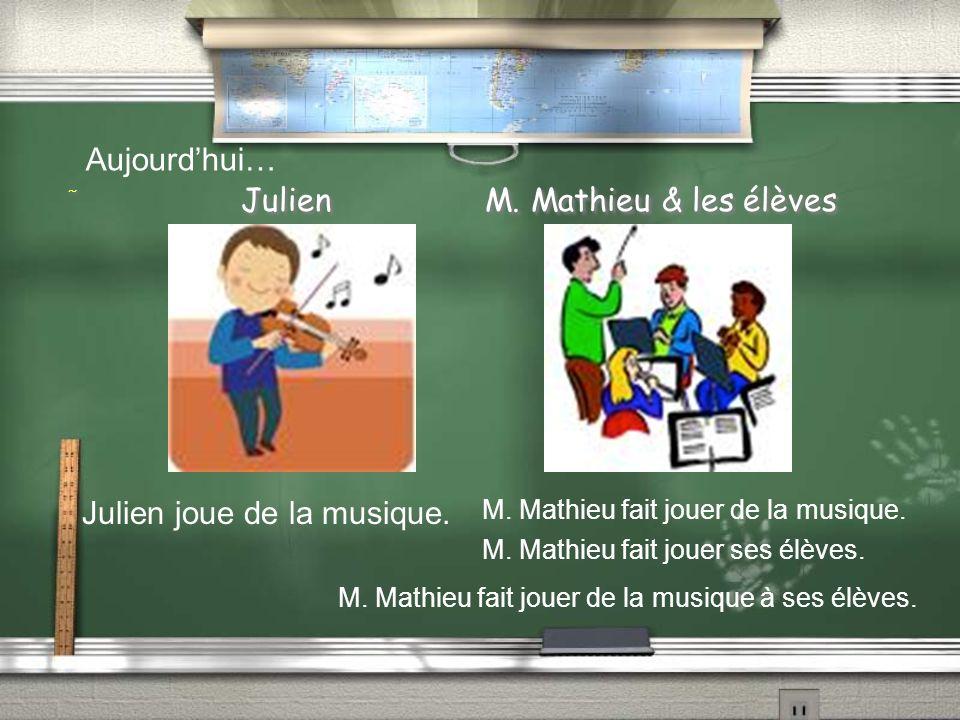 Julien M. Mathieu & les élèves