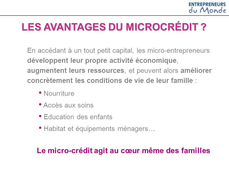 Le micro-crédit agit au cœur même des familles