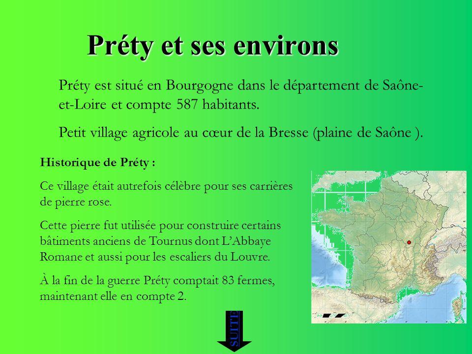 Préty et ses environs Préty est situé en Bourgogne dans le département de Saône-et-Loire et compte 587 habitants.