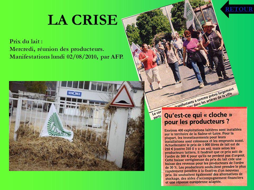 LA CRISE RETOUR Prix du lait : Mercredi, réunion des producteurs.