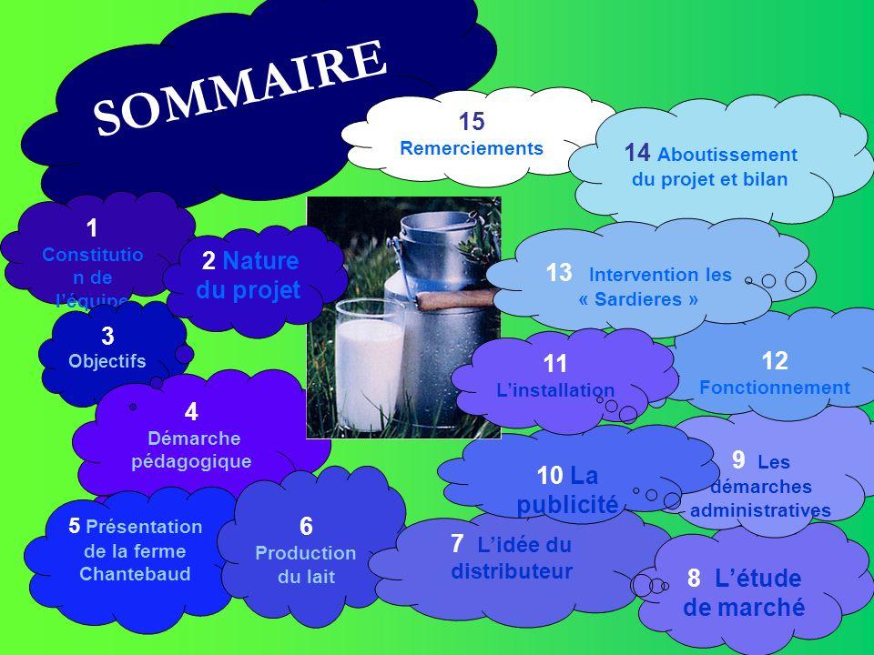 SOMMAIRE 15 Remerciements 14 Aboutissement du projet et bilan