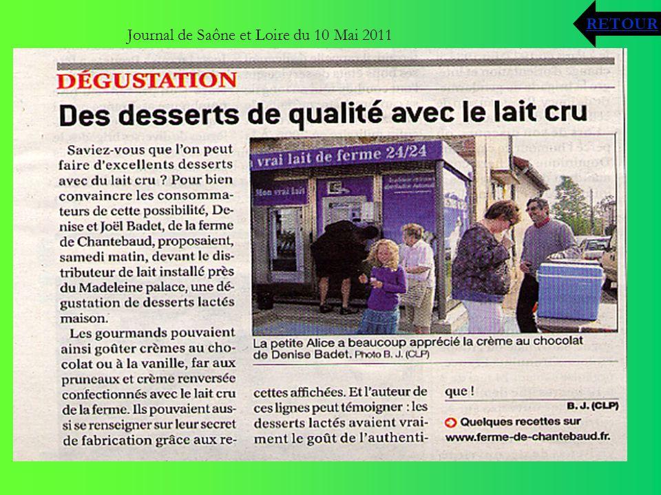 Journal de Saône et Loire du 10 Mai 2011