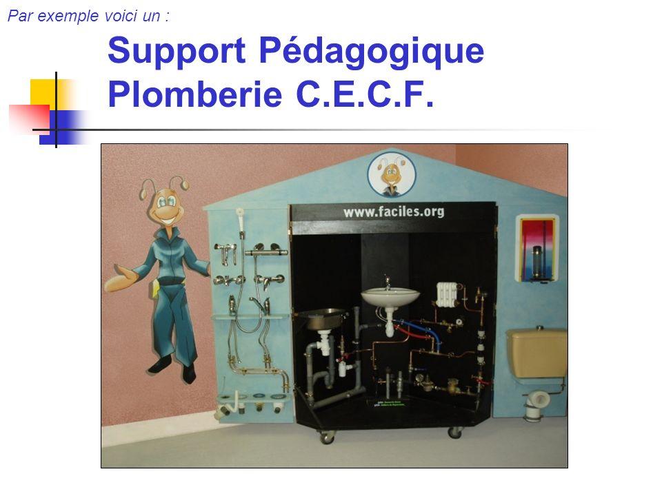 Support Pédagogique Plomberie C.E.C.F.
