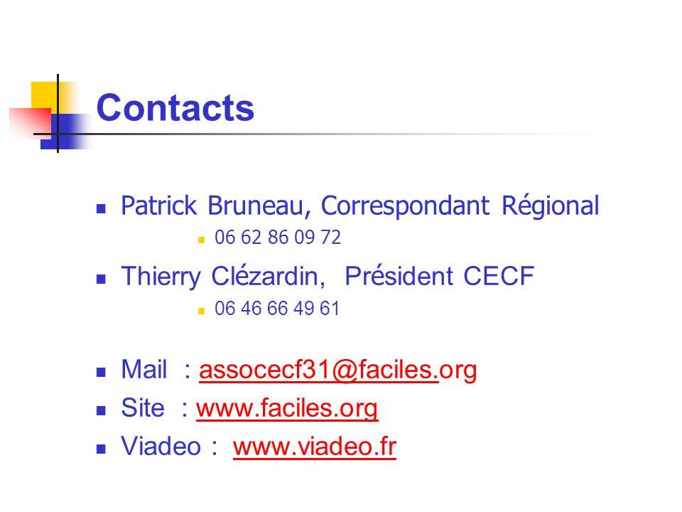 Contacts Patrick Bruneau, Correspondant Régional